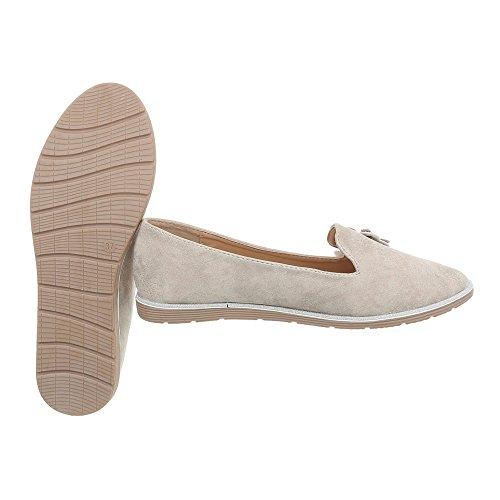 Koko Ital 5 Uk Beige Naisten Loafers suunnittelu 1xgwBgnrI