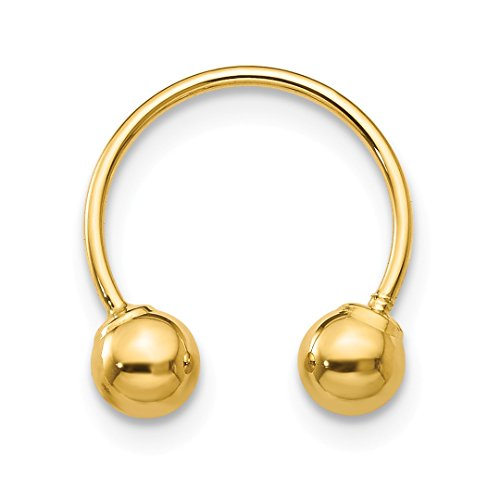 ICE CARATS 14kt Yellow Gold Single Beaded Half Hoop Screwback Earrings Drop Dangle Fine Jewelry Ideal Gifts For Women Gift Set From Heart