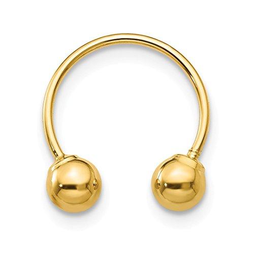 14k Beaded Heart (ICE CARATS 14kt Yellow Gold Single Beaded Half Hoop Screwback Earrings Drop Dangle Fine Jewelry Ideal Gifts For Women Gift Set From Heart)
