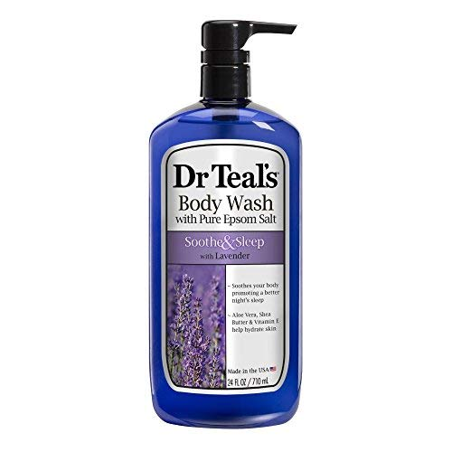 Teal And Lavender (Dr Teal's Pure Epsom Salt Body Wash Soother & Moisturize With Lavender 24 oz (Pack of)