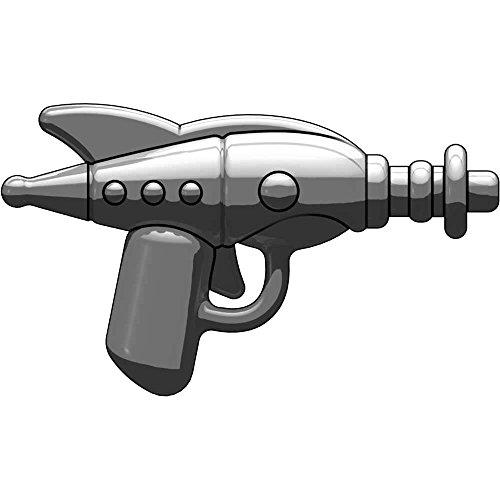 BrickArms 2.5 Scale LOOSE Weapon Retro Ray Gun Titanium