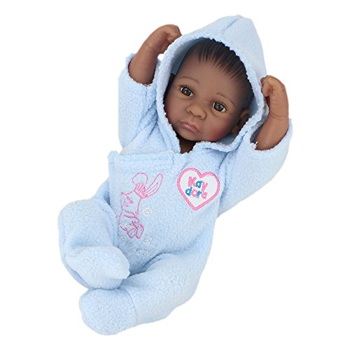 Search : Kaydora 10 Inch Full Silicone Reborn Baby African American Boy Washable Handmade Lifelike Dolls Bathe Partner Toy