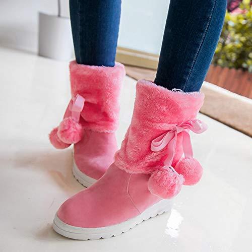 Cotone Stivali Donna Pink Da Caldo Stivali Grandi Dimensioni Stivali Di Neve Impermeabile Di Inverno Piattaforma Con KUKI Cunei Moda Stivali Donna Stivali Stivaletti HCC4q