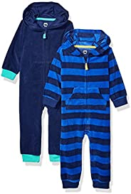 Amazon Essentials Boy's Toddler 2-Pack Microfleece Hooded Cove