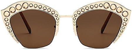 Graceful Crystal Cat Eyes Oversized gafas de sol de la señora Marco de  metal Protección UV lente de la PC Grandes gafas de sol frescas para  conducir ... 3531f2a918cd