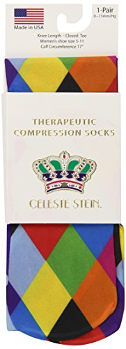 Celeste Stein Therapeutic Compression Socks, Mini Harlequin, 8-15 mmhg, .6 Ounce
