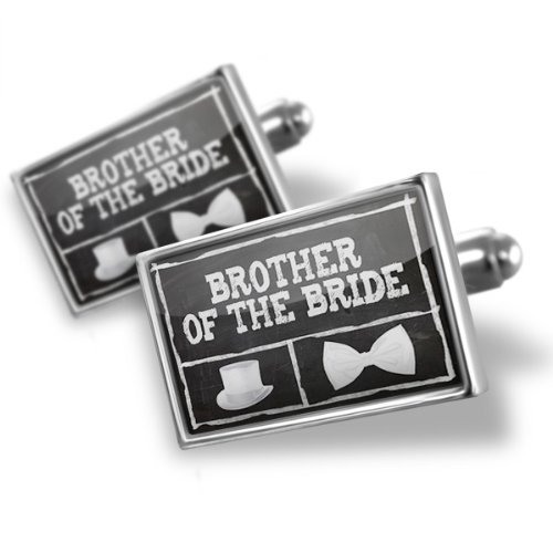 Cufflinks Wedding Chalkboard with Brother of the Bride - Neonblond