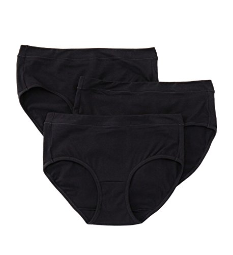 (Jockey Women's Elance Stretch Hipster - 3 Pack Black)