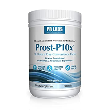 PR Labs – Prost-P10x Prostate Supplement for Men Urologist-Formulated Natural Prostate Urinary Health Support Saw Palmetto – Quercetin – Bee Pollen – Meriva Curcumin – Pygeum – Beta-Sitosterol