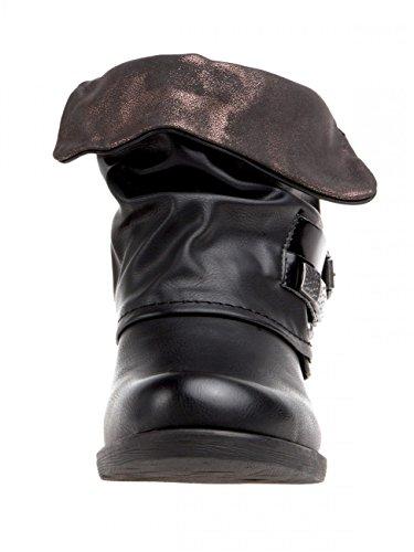 vintage SBO067 CASPAR pour biker femme Boots tRfdfqw