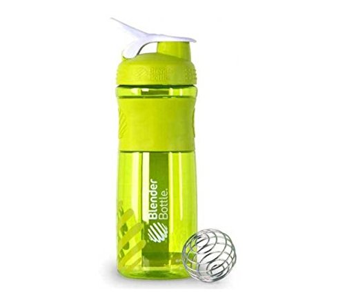 BlenderBottle SportMixer Protein Shaker Cup 28 oz Blender Bottle Sport Mixer Health & Fitness (Green)