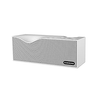 Sardine Portable Wireless Bluetooth Speakers with FM Radio, 10W HD speaker.12 hours playtime Support TF card ,Powerful Sound Bluetooth Speaker for Apple iPhone, iPad, Samsung GALAXY Series(White) by SARDiNE