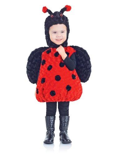 [Underwraps Baby's Lady Bug Belly-Babies, Black/Red, X-Large] (Baby Ladybug Halloween Costumes)