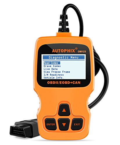 AUTOPHIX OM123 OBD II Car Computer Diagnostic Scan Tool Small Automotive Code Scanners Check Auto Engine Light Fault Codes Reader for OBDII OBD2 Vehicle (Orange)