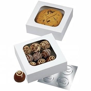 Amazon.com: Wilton Treat Boxes - w/Window - 4½ × 4½: Disposable ...