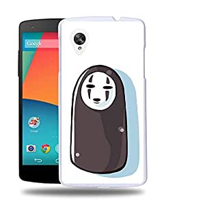 Case88 Designs Spirited Away No-Face faceless Protective Snap-on Hard Back Case Cover for LG Nexus 5