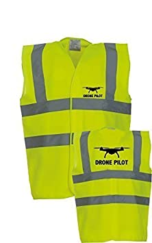 2XL Drone Pilot Signalfarben Westen Sicherheit Westen Weste 52//54