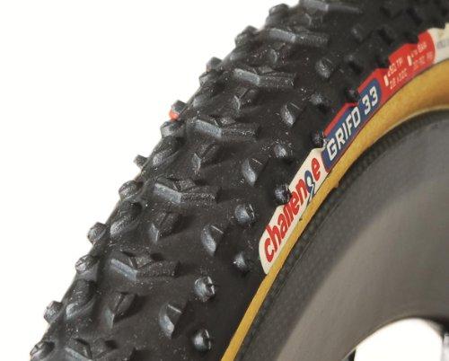 Tubular Rolling Tire Resistance - Challenge Grifo Cross Tubular Tire (Black/Brown, 33-mm)