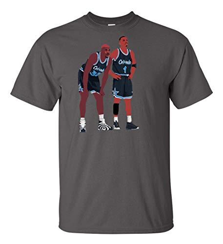Grey Orlando Shaq Penny Pic T-Shirt Adult ()