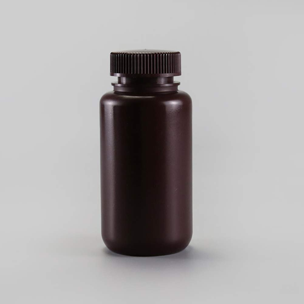 Tansoole Amber Plastic Bottles HDPE Clear Empty with Caps 8ml Pack of 20 Wide Mouth Plastic Lab Sample Bottle