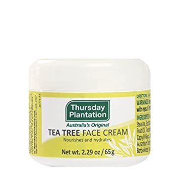 Tea Tree Face Cream Thursday Plantation 2.29 oz Cream Peony Brightening Moisture Face Cream 1.6oz