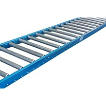 """Gravity Conveyor 1-3/8″ dia. / 1.4"""" galvanized steel rollers on 6"""" roller centers. 12″ Wide, 5′ Long Steel Frame – Ultimation"""