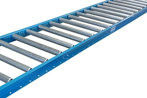 "Gravity Conveyor 1-3/8″ dia. / 1.4"" galvanized steel rollers on 6"" roller centers. 18″ Wide, 5′ Long Steel Frame – Ultimation"