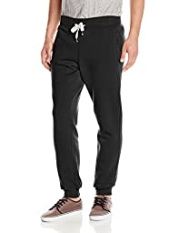 Southpole Men\'s Active Basic Jogger Fleece Pant, black, LARGE