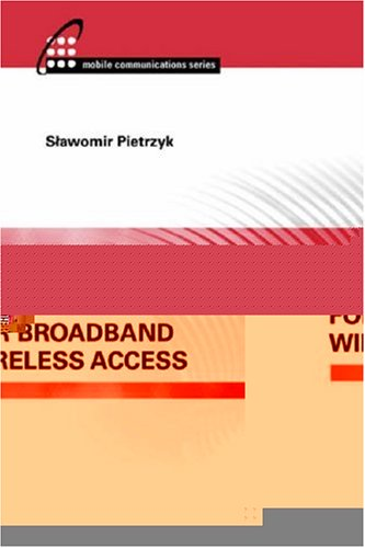OFDMA for Broadband Wireless Access (Artech House Mobile Communications)