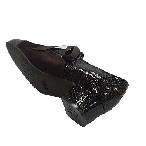 Charol Combinado Y Zapato Roldán Mujer Ante Marrón En xqgtIp