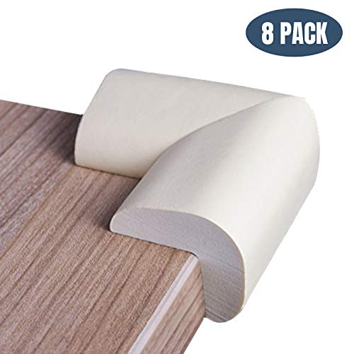 Foam Corner Protectors | Foam Caring Corner Guards by The Hamptons Baby | Safety Furniture Bumpers | Long Lasting, Pre-Applied Adhesive | Sharp Corner Cushions - Corner Cushions Furniture