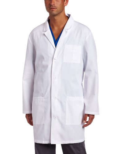(Dickies Everyday Scrubs Unisex 37 Inch Lab Coat,White,Medium)