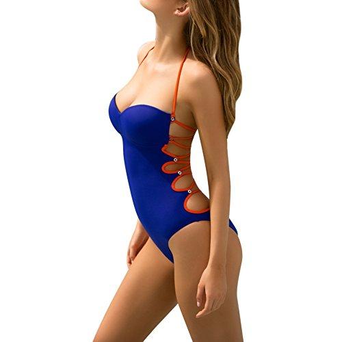 ELINKMALL Women Summer Sexy Brazilian Bandage Backless Halter Swimsuit Beach - Swimwear Modern