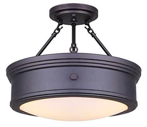 Canarm LTD ISF624A03ORB Boku ORB 3 Bulb Semi-Flush Mount Oil Rubbed Bronze with Flat Opal Glass by Canarm (Image #6)