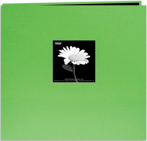 (Pioneer Book Cloth Cover Post Bound Album 12x12-Citrus Green)