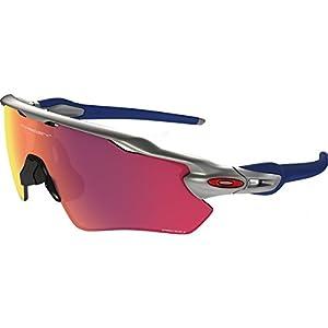 b11ec0644429 Oakley Men's Radar Ev Path Non-Polarized Iridium Rectangular Sunglasses,  Silver, 38.009 mm
