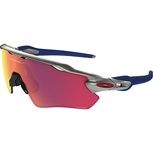 Oakley Men's Radar Ev Path Non-Polarized Iridium Rectangular Sunglasses, Silver, 38.009 - Ev Prizm Oakley Radar