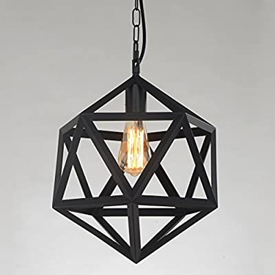 YANCEN Industrial Chandelier Ceiling Pendant Light Wrought Iron Barn Metal Ceiling Lights Pendant Lighting Art Deco Ceiling Lamp