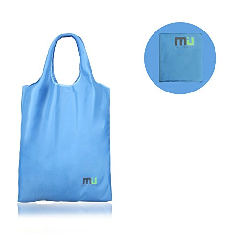 MIU COLOR® Sturdy and Water-resistant Polyester Shopping Bag with a Load Capacity over 20 Pounds, Multifunctional Bag for Laundry, packing picnics, books or accessories; Tote, Foldable and Portable Bag(Color: Dark Blue)