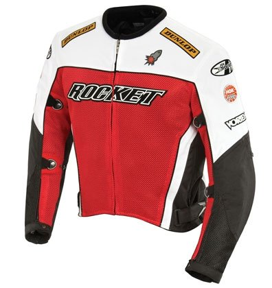 - Joe Rocket UFO 2.0 Mesh Motorcycle Jackets - Red - Medium