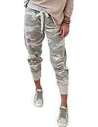 Women Casual Drawstring Elastic Waist Drawstrings Jogger Sweatpants Stretch Lounge Pants with Pockets