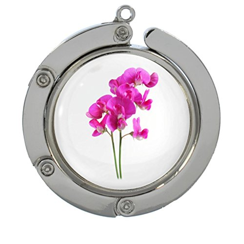 Flowers Sweet Pea Designs - Sweet Pea Flower Image Design Portable Handbag Hanger