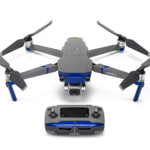 Wrapgrade Poly Skin for DJI Mavic 2 | Accent Color (Stratosphere Blue)