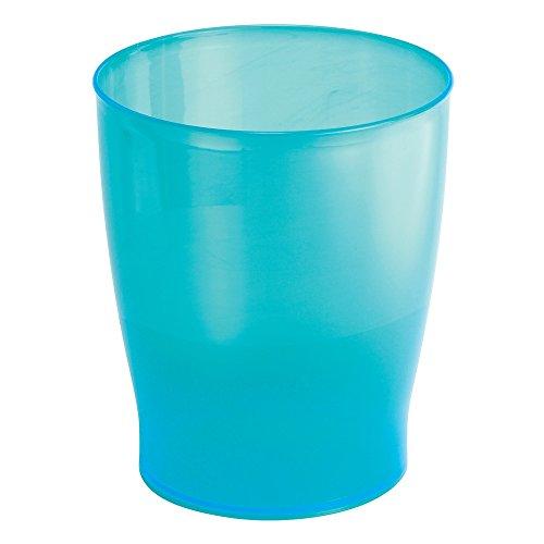 InterDesign Franklin Wastebasket Trash Can For Kitchen, Bathroom, Office    Turquoise
