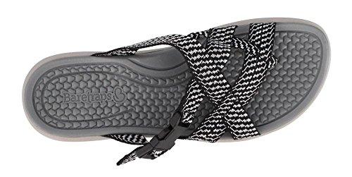 Sandals Slide Women's Wilona Traps Black White Bare zIzwCqtB