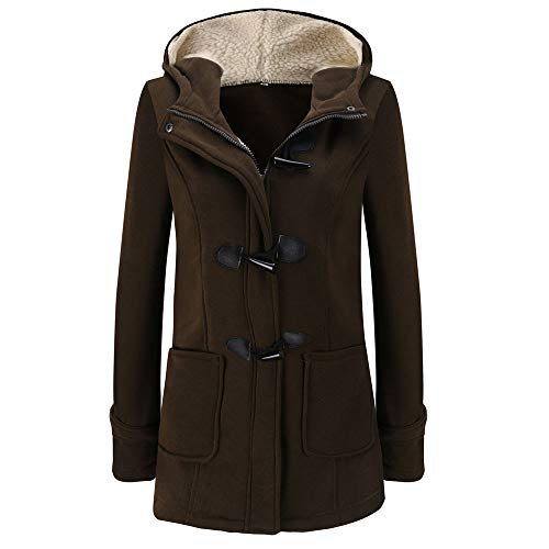 GIFC Fashion Women Warm Solid Long Sleeve Pullover Blouses Hooded Ladies Jacket Coat Long Outerwear