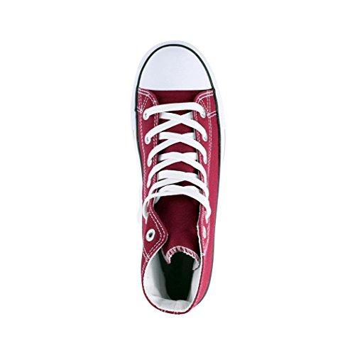 Comodo Tessile Sneaker High Per Uomo Scarpe Scarpe Unisex Kult e Top Wine Elara Sport Donna High q1Ex7fvt