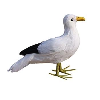Flameer Artificial Bird Feather Realistic Home Garden Decor Ornament - Seagull 1, as described