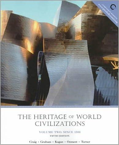 Amazon Com The Heritage Of World Civilizations Volume Ii Since 1500 5th Edition 9780824790950 Craig Albert M Graham William A Kagan Donald Ozment Steven E Turner Frank M Books