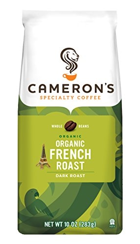Cameron's Organic Whole Bean Coffee, French Roast, 10 Ounce Bag (packaging may vary)